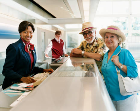 Voyage aérien des personnes âgées