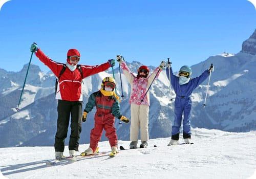 famille vacances ski